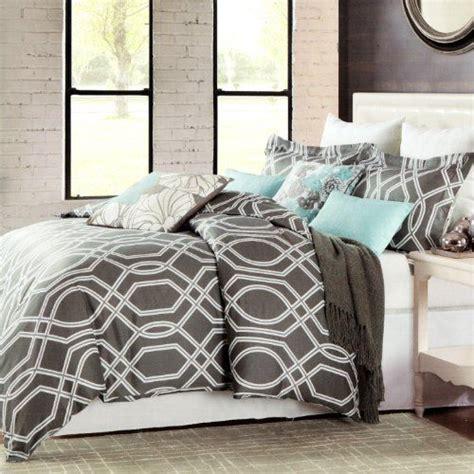 max studio home comforter set max studio modern geometric quatrefoil trellis pattern