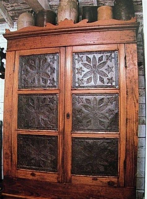 Punched Tin Cabinet Panels by Antique Pie Safe Tin Panels Woodworking Projects Plans
