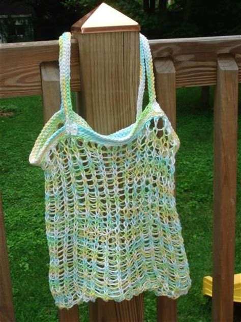 how to knit a bag on a loom bag patterns loom knit and market bag on
