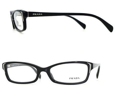 Prada Sunglasses Bahan Glass Semi Ori prada womens 53 mm black frame transparent lens rectangular glasses prada 127 84 clothing