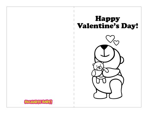 S Day Card Printable Templates Black And White by Coloring Pages For Valentines Day Cards Luxe Printable