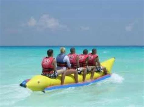 banana boat ride mexico banana boat rides captains watersports picture of
