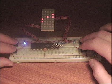 avrprojects home led dot matrix pong using atmega16 microcontroller