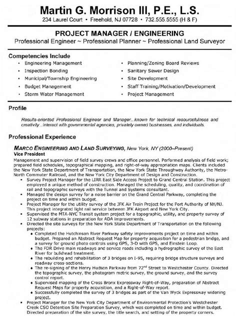 sle resume of project engineer 28 images best