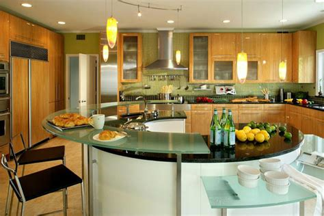 levant elegant kitchen with dual round islands the advantages of having a great kitchen island designs