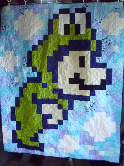 Mario Quilt by Frog Suit Up For Dreamland With An 8 Bit Mario Bros