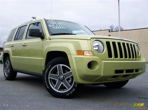 green jeep patriot 2010 optic green metallic jeep patriot sport 4x4 22313924
