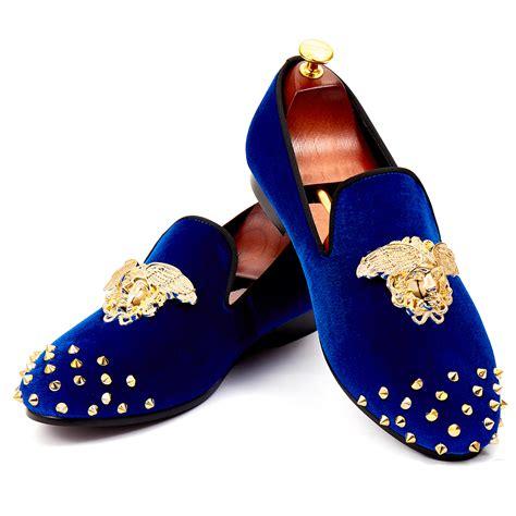 size 7 shoes harpelunde rivets shoes medusa buckle dress shoes blue