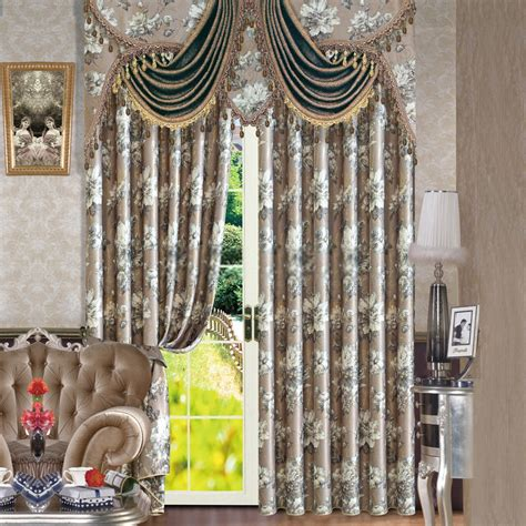 Beautiful Curtains printing floral patterns beautiful european style curtains