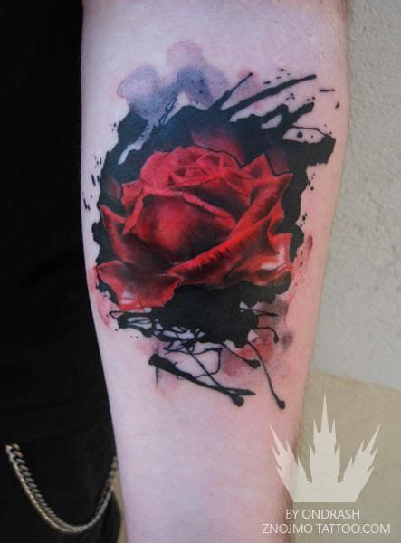 is red tattoo ink easy to cover ink and realistic red rose tattoo tats pinterest