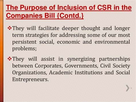 section 6 of the companies act csr as defined in section 135 of the companies act