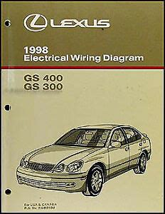 small engine service manuals 2000 lexus rx security system 1998 lexus gs 300 400 wiring diagram manual gs300 gs400 electrical schematic 98 ebay