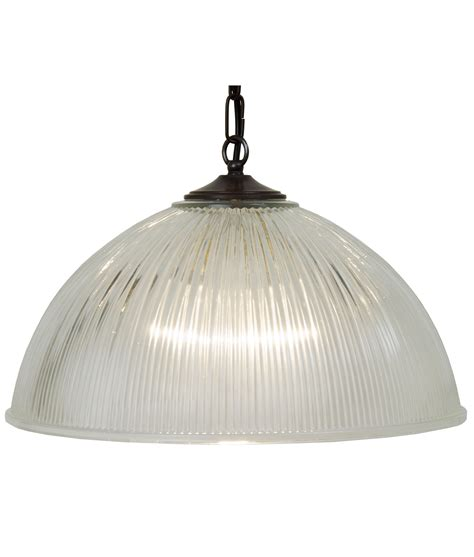 Glass Pendant Lights Uk Prismatic Glass Dome Pendant 2 Sizes