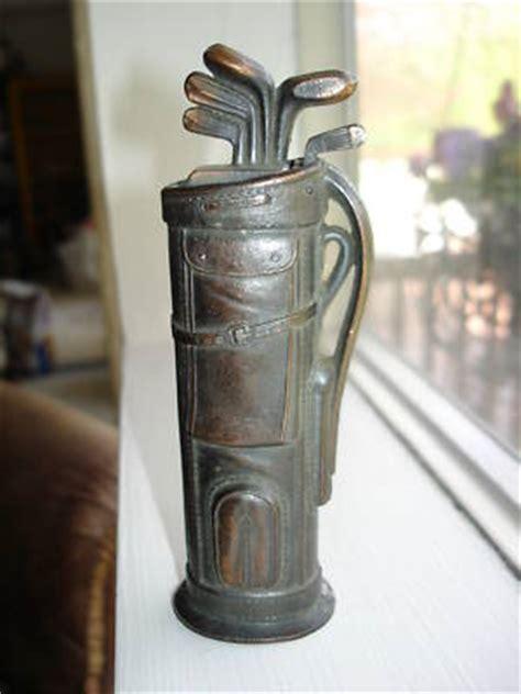 antique figural golf bag table lighter negbaur v