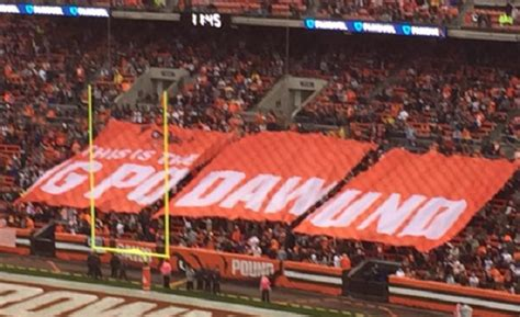 dawg pound sections cleveland browns fans could use some spelling help
