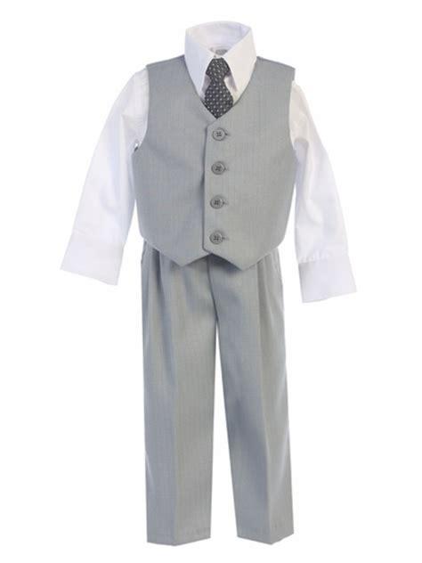 light grey vest and light gray vest pant set