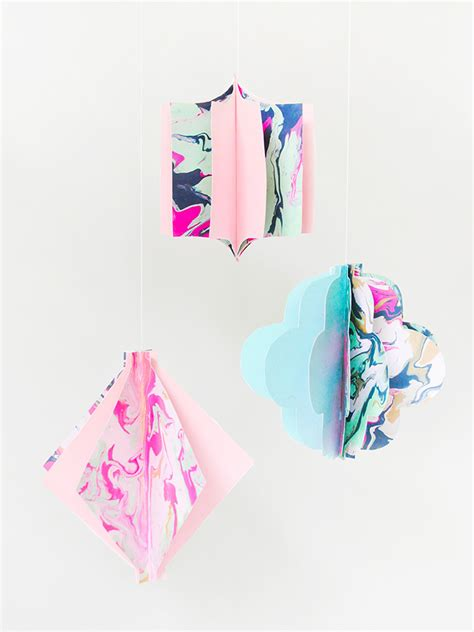 Marbled Paper Craft - diy marbled paper lanterns handmade colormag