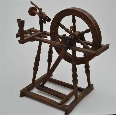 Handmade Spinning Wheel - small handmade antique spinning wheel circa late 18th to