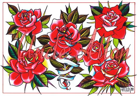 roses tattoo flash conspiracy inc merch