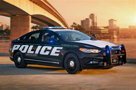 police truck ford police responder hybrid sedan unveiled at new york