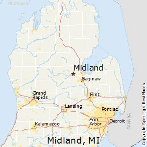 Map Of Midland Michigan by Best Places To Live In Midland Michigan
