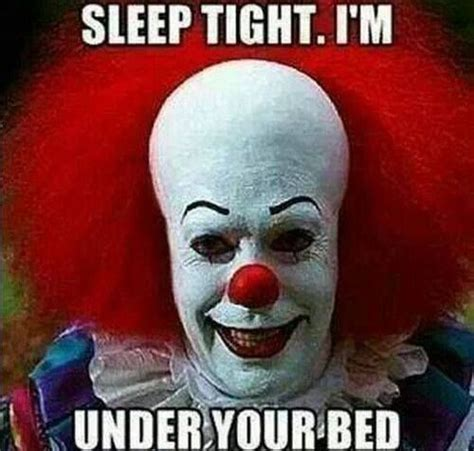 go to bed clown sleep tight coulrophobia clowns pinterest