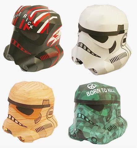 Stormtrooper Helmet Papercraft - diy papercraft stormtrooper helmets gearfuse