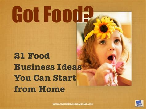 Small Business Ideas From Home For 21 Food Business Ideas You Can Start From Home