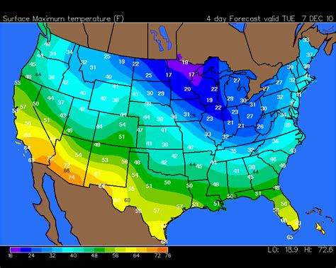 map of the united states weather your hometown weather december 5 2010 bundle up cold