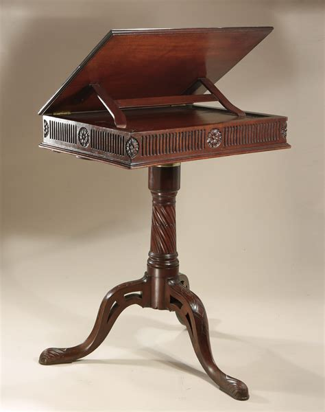 Reading Tables by Early George Iii Mahogany Adjustable Reading Table