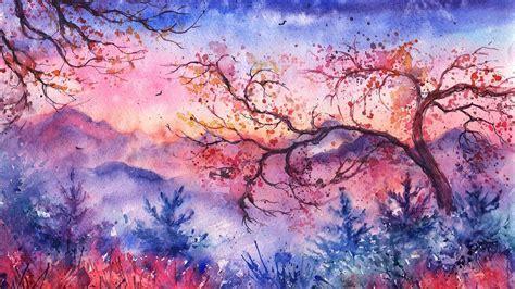 Watercolor Wallpaper HD Desktop and iPhone Background