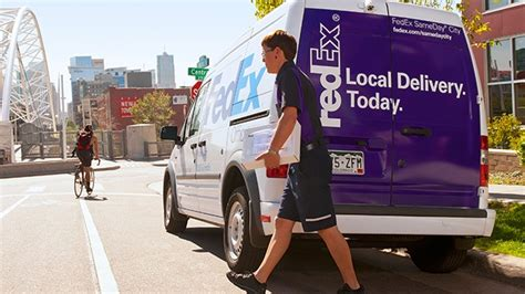 does fed ex deliver on get it there today with fedex sameday city