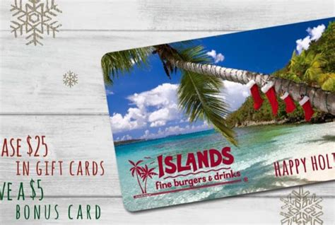 Islands Restaurant Gift Card - islands restaurant giftcards and more for the holidays giveaway