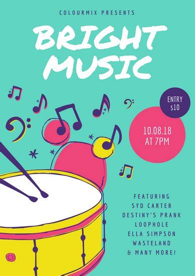 canva poster customize 355 music poster templates online canva