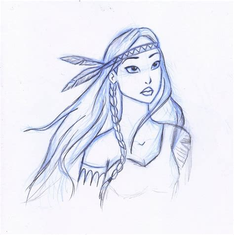 drawing from pictures pocahontas by serifeb on deviantart