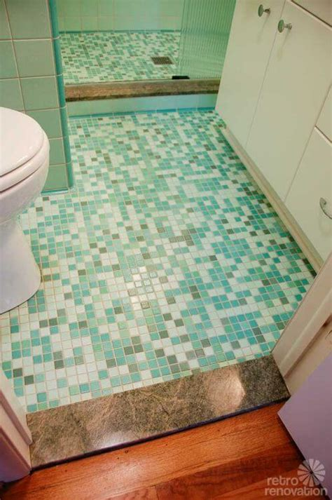 rebeccas mid century bathroom remodel  nemo tiles
