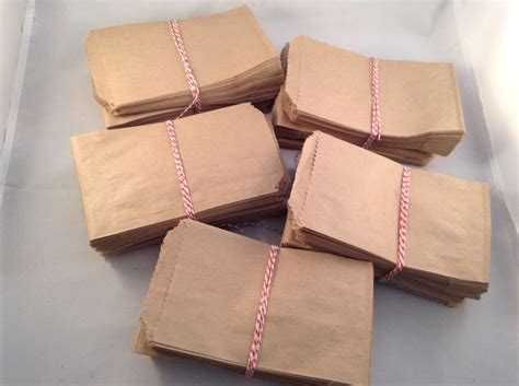 Paper Bag Warna Mini Bc bags kraft flat 500 brown 3 25 x 5 5 inch mini paper bags bulk wholesale pack favor craft