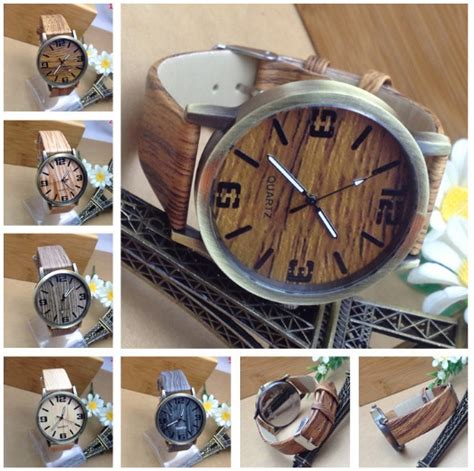 Jam Tangan Fashion Import Angka Unik buy jam tangan motif kayu wood theme fashion fesyen