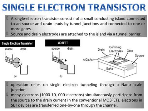 electron transistor ppt single electron transistor