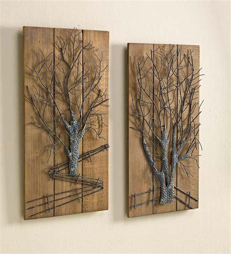 wood decor wall art designs metal and wood wall art art metal tree