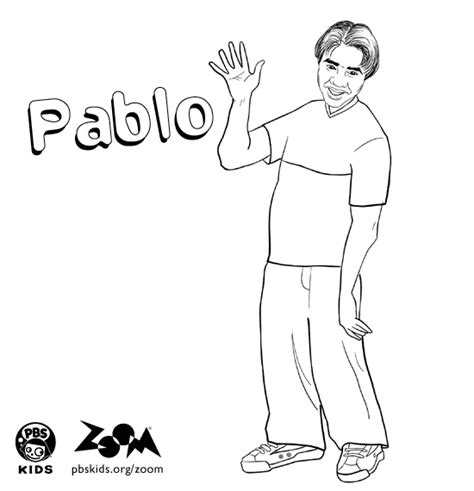 zoom printables pablo s coloring page pbs kids