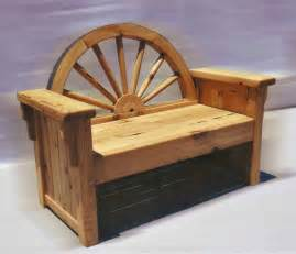 western style benches wagon wheel bench cabin bench