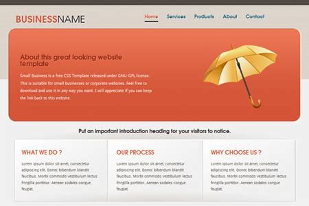 50 Fresh Free Html5 And Css3 Website Templates Free Small Business Website Templates