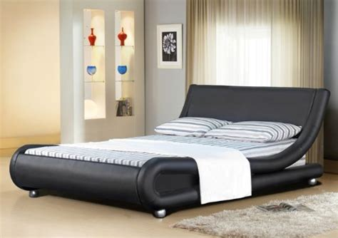 ft italian designer faux leather double mallorca bed