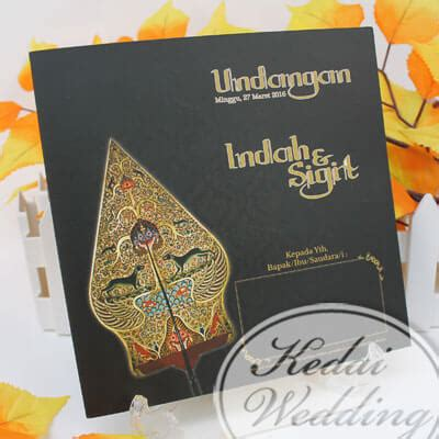 undangan pernikahan gunungan wayang murah undangan pernikahan