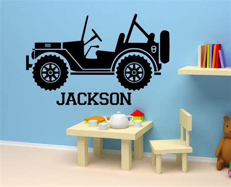 car wall stickers for nursery personalized name decal boy s nursery room kid s bed room