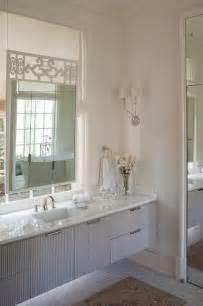 Marble Bath Vanity Gray Floating Bathroom Vanity Transitional Bathroom
