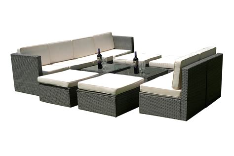 indoor outdoor sectional mcombo 12 pcs grey wicker patio sectional indoor outdoor