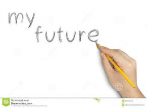 Free Space Planning Tool my future pencil hand writing white stock photo image