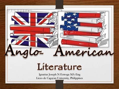 American Literatur anglo american literature